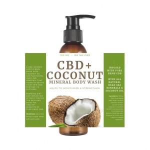 CBD Coconut Body Wash 150 CBD With Dead Sea Minerals